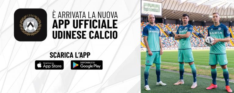 nuova app Udinese